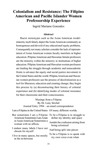 Colonialism and Resistance: The Filipino American and Pacific Islander Women Professorship Experience